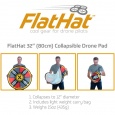"FlatHat 32"" (80cm) Drone Pad - Gold Red"